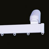 Kestrel plastic window curtain track, face fix